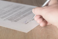 WMS contract - person signing contract