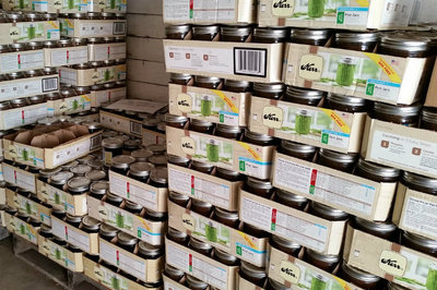 wholesale warehouse - pallets of jars