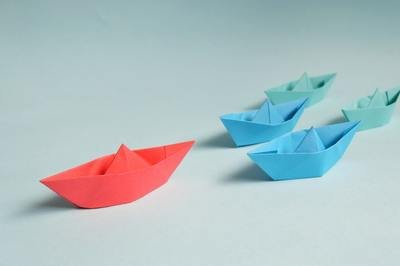 shipping startup - paper boats