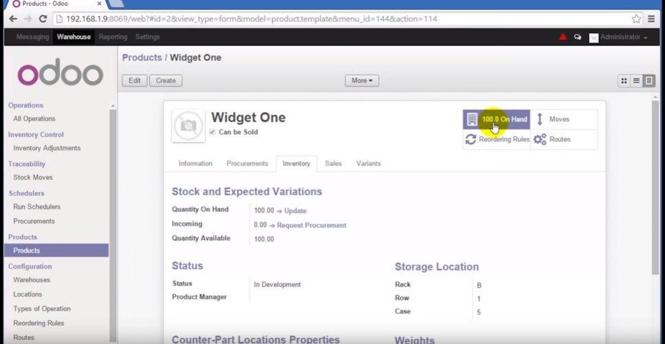 Odoo WMS Vendor Profile - Provided by Explore WMS